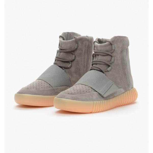 Adidas Unisex Yeezy Boost 750 Gum Glow In Dark Light Grey Shoes BB1840