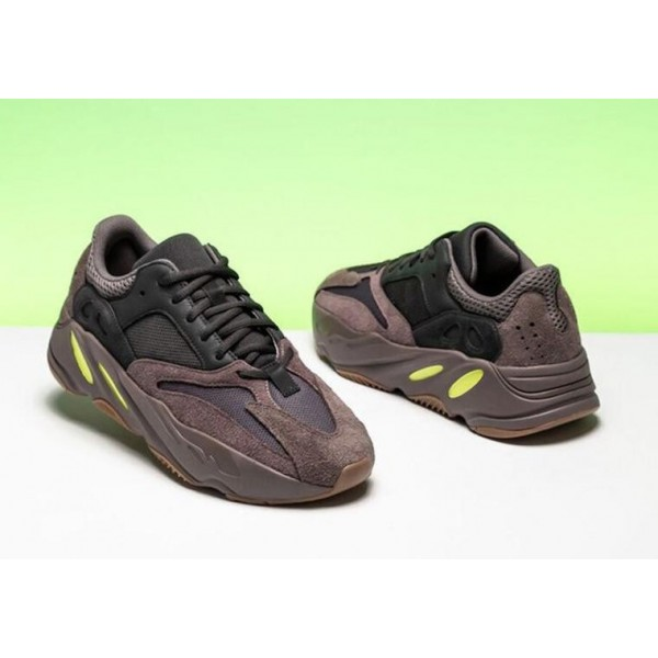 """Adidas Unisex Yeezy Boost 700 """"Mauve"""" Shoes Brown Black EE9614"""