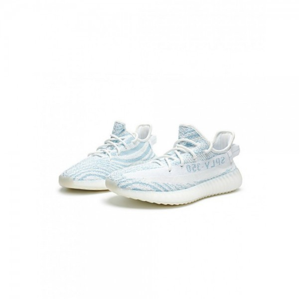 Adidas Unisex Yeezy Boost 350 V2 Shoes White/Teal Blue DA5690