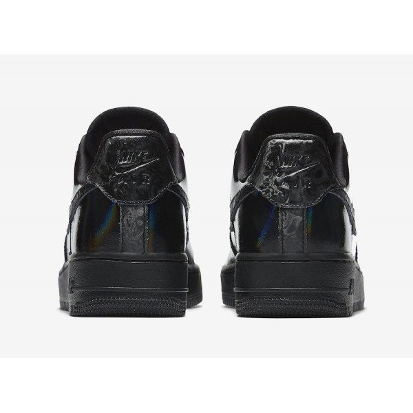Nike 898889-009 Air Force 1 Low Luxe Iridescent Black/White