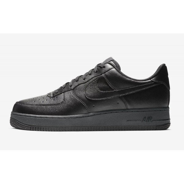 BV1391-001 Nike Air Force 1 Flyleather Triple Blac...