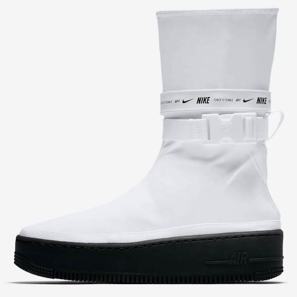 AQ2771-100 Nike Air Force 1 Sage High White Black Women Shoes