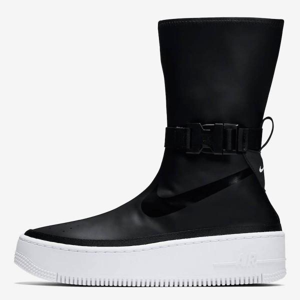 AQ2771-001 Nike Air Force 1 Sage High Black White ...