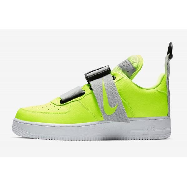 AO1531-700 Nike Air Force 1 Utility Volt Black White Shoes
