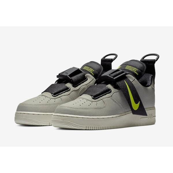 AO1531-301 Nike Air Force 1 Low Utility Spruce Frog Black Volt Men Shoes