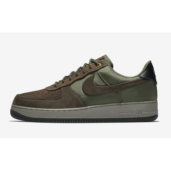 AJ7408-200 Nike Air Force 1 Premium Baroque Brown Olive Men Shoes