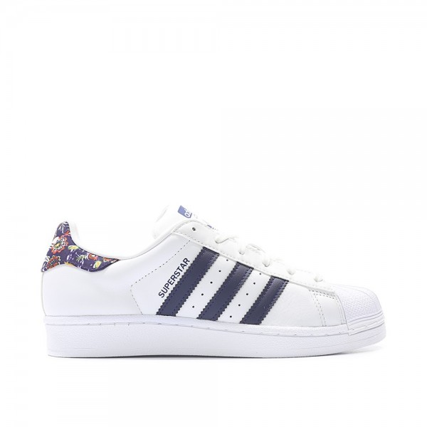 Adidas Women Superstar White Blue White Shoes S804...