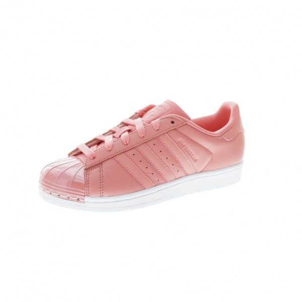 Adidas Women Superstar Pink White Running Shoes BY...