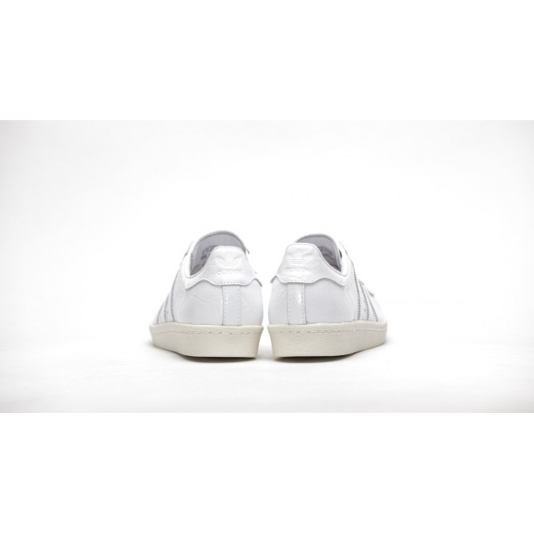 Adidas Women Superstar 80s White Shoes BB2056
