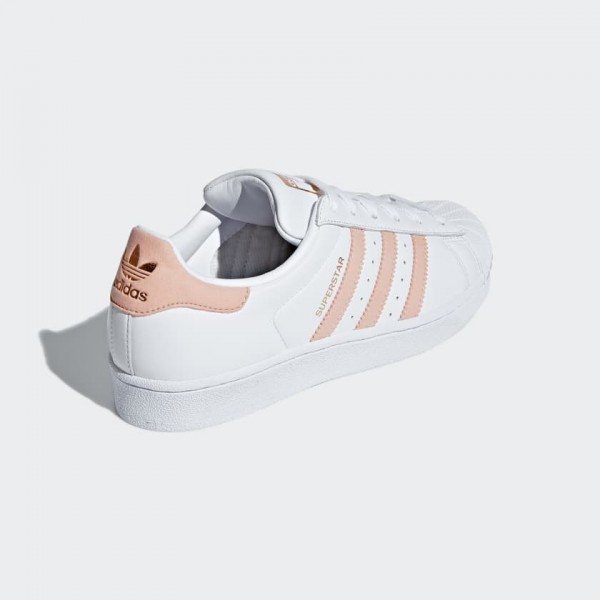 Adidas Women Originals Superstar White Pink Shoes F36949