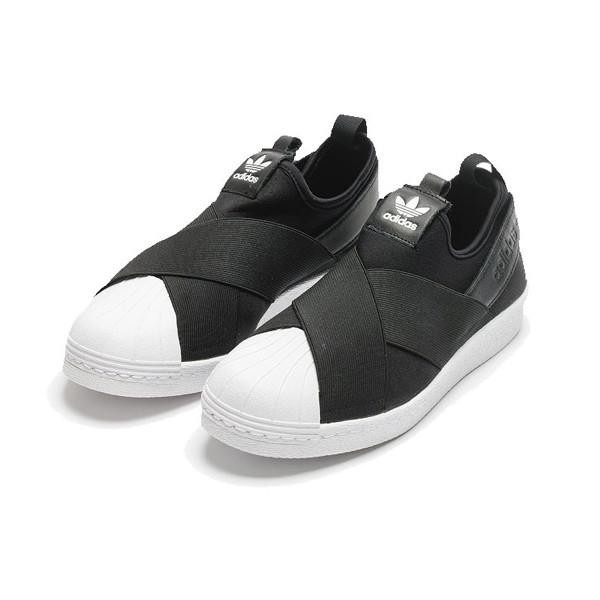 Adidas Women Originals Superstar Slip-on Shoes Black S81337