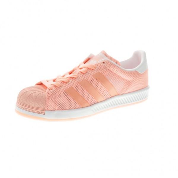 Adidas Women Originals Superstar Bounce Pink White...