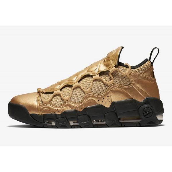 AJ2998-700 Nike Air More Money Metallic Gold Black...