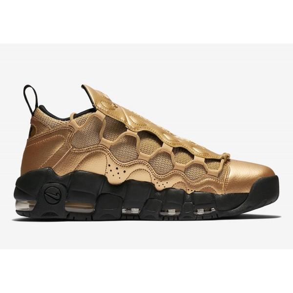 AJ2998-700 Nike Air More Money Metallic Gold Black Men Shoes