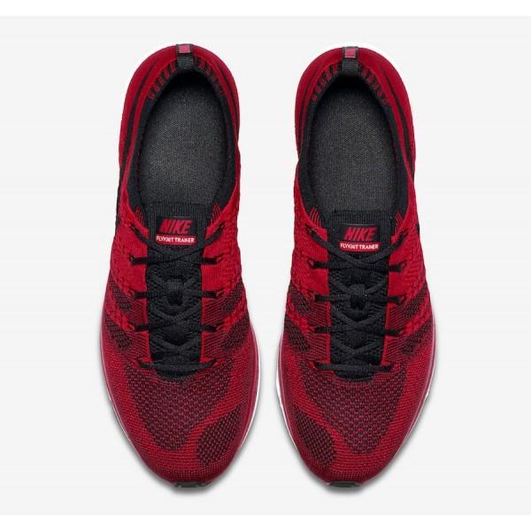 AH8396-601 Nike Flyknit Trainer University Red Black Men Shoes