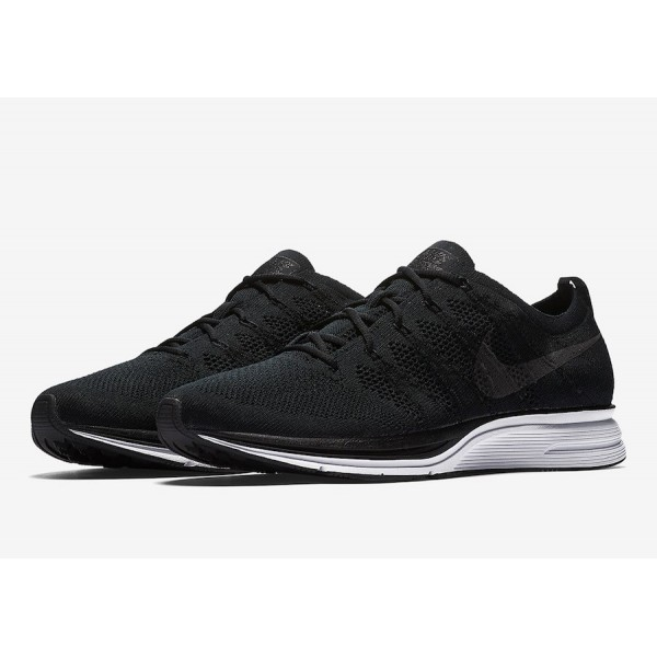 AH8396-007 Nike Flyknit Trainer Black White Men Shoes