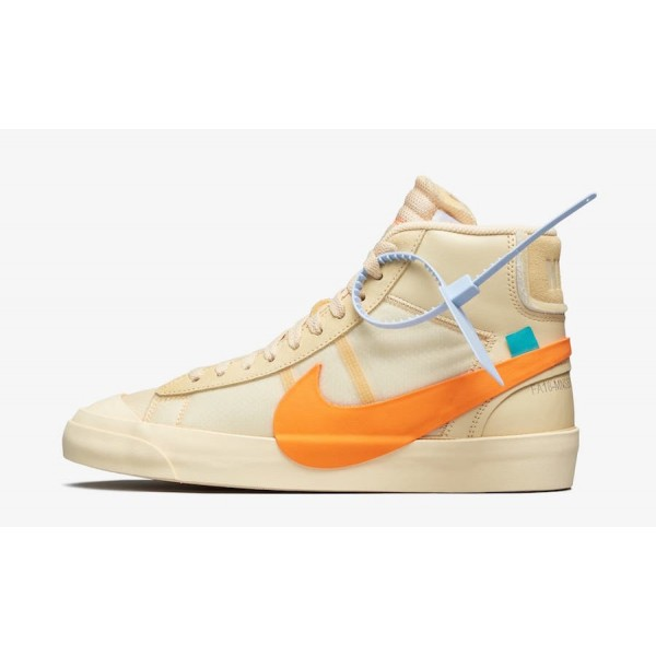 "AA3832-700 Off-White x Nike Blazer Mid ""All H..."