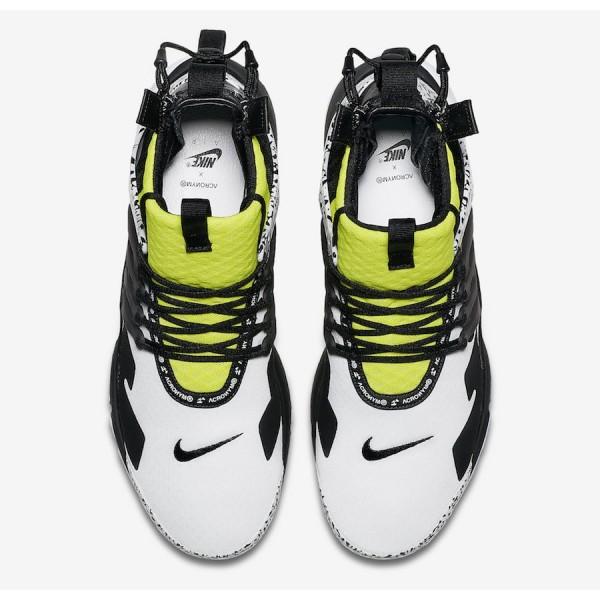 AH7832-100 Nike Air Presto Mid x Acronym Dynamic Yellow Men Shoes