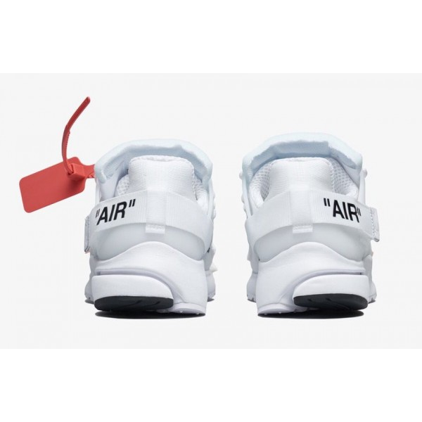 AA3830-100 Off-White x Nike Presto White Black Shoes