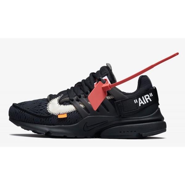 AA3830-002 Off-White x Nike Presto Black White Sho...