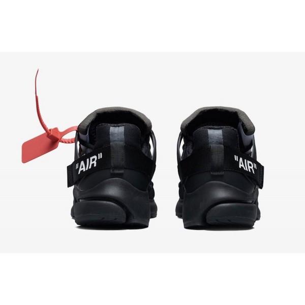 AA3830-002 Off-White x Nike Presto Black White Shoes