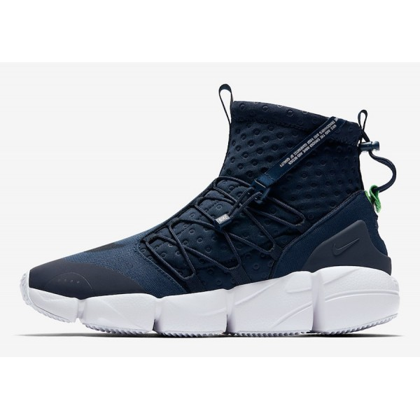 924455-400 Nike Air Footscape Mid Utility Obsidian White Men Shoes