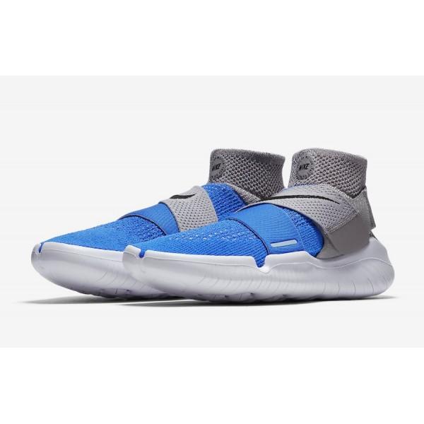 942840-401 Nike Free RN Motion Flyknit 2018 Photo Blue Grey Men Shoes