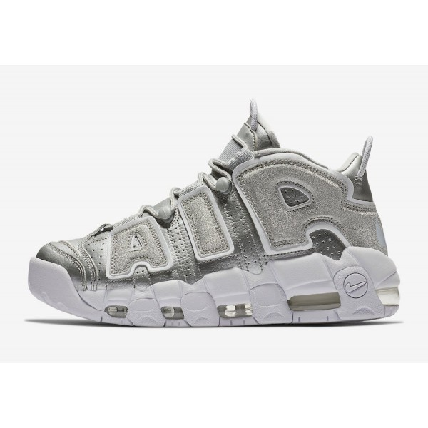 917593-003 Nike Air More Uptempo Metallic Silver W...