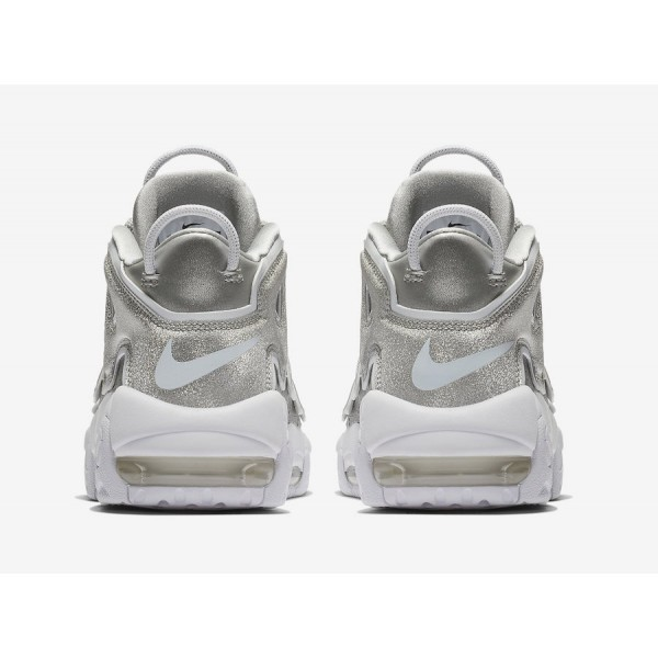 917593-003 Nike Air More Uptempo Metallic Silver White Women Shoes