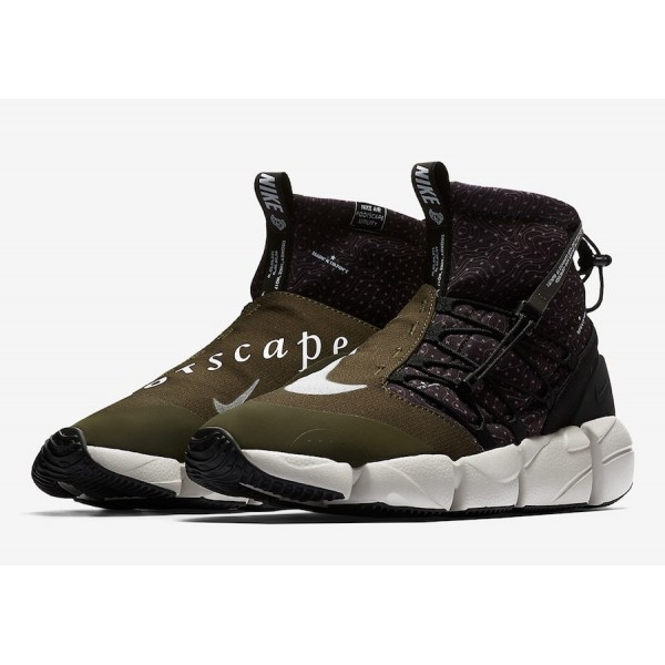924455-001 Nike Air Footscape Mid Utility Black Cargo Khaki Men Shoes
