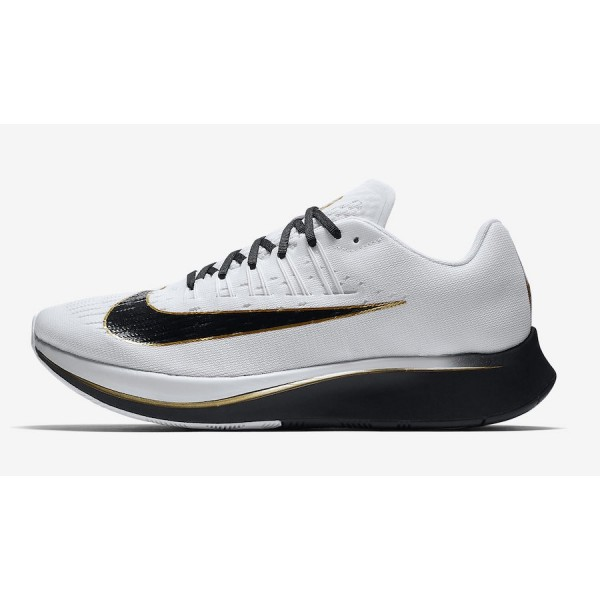 880848-006 Nike Zoom Fly White Black Metallic Gold...