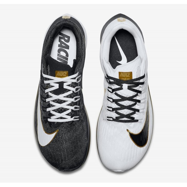880848-006 Nike Zoom Fly White Black Metallic Gold Men Shoes