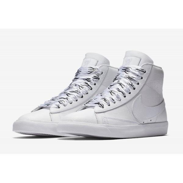 700869-100 Nike Blazer Mid SW White Black Women Shoes