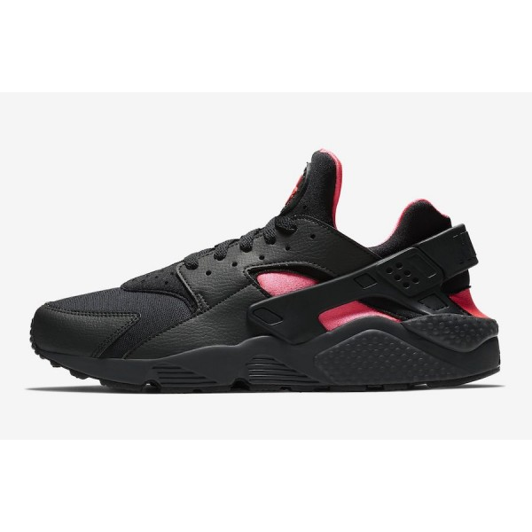 318429-055 Nike Air Huarache Coral Black Pink Men ...
