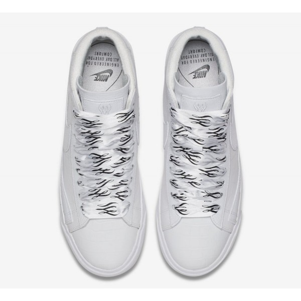 700869-100 Nike Blazer Mid SW White Black Women Shoes