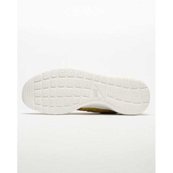 Nike Women Roshe One Premium Yellow White Shoes 833928-700