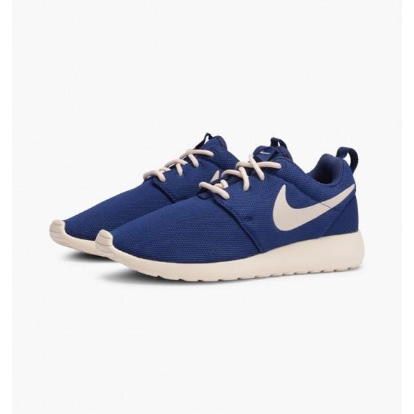 Nike Women Roshe One Binary Blue Oatmeal Shoes 511882-404