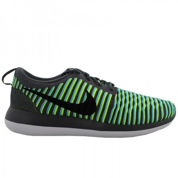 Nike Men Roshe Two Flyknit Dark Grey Black Shoes 8...