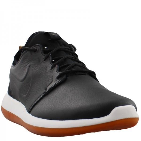 Nike Men Roshe Two Leather Premium Black Shoes 881987-001
