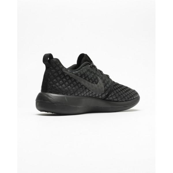 "Nike Men Roshe Two Flyknit 365 ""Triple Black"" Shoes 859535-001"