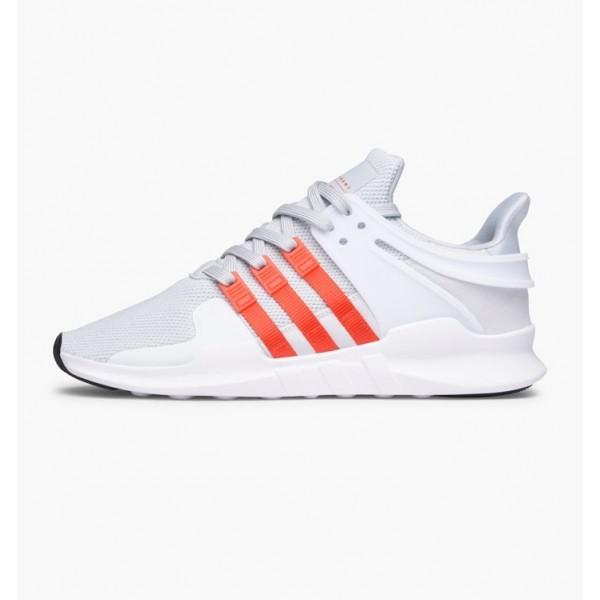 Adidas Men EQT Support ADV White Orange Running Sh...