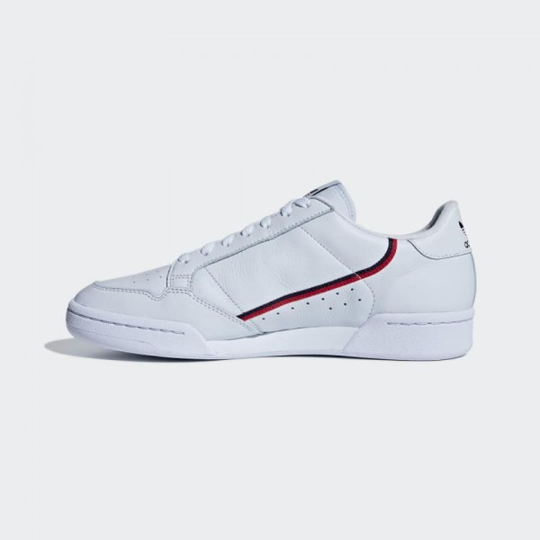 Adidas Men Continental 80 Shoes Blue/Red/Navy B416...