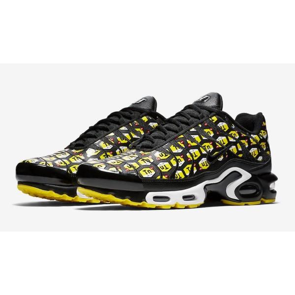 903827-002 Nike Air Max Plus Black Yellow White Men Shoes