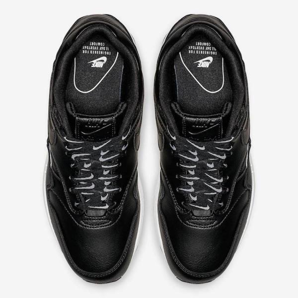 881101-005 Nike Air Max 1 SE Black White Women Shoes