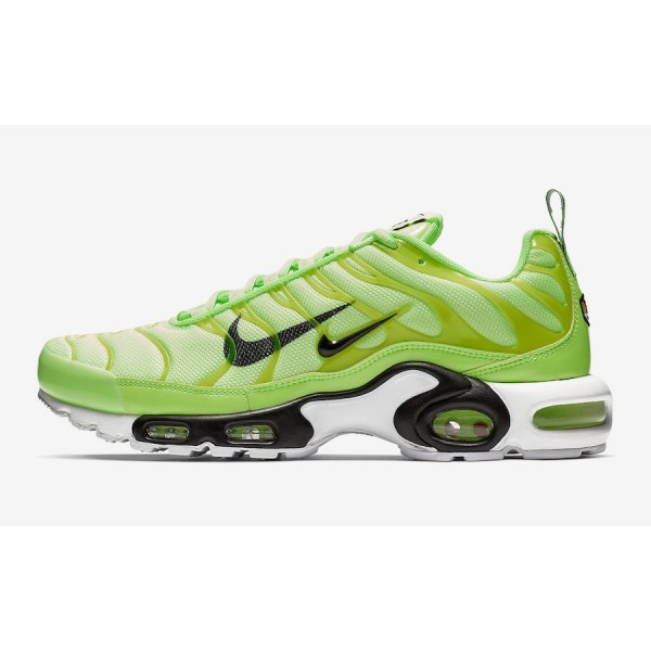 815994-300 Nike Air Max Plus Premium Lime Blast Bl...