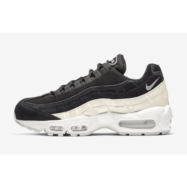 807443-017 Nike Air Max 95 Black White Running Sho...