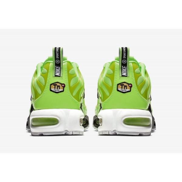 815994-300 Nike Air Max Plus Premium Lime Blast Black Men Shoes
