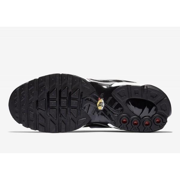 815994-004 Nike Air Max Plus Black White Men Shoes
