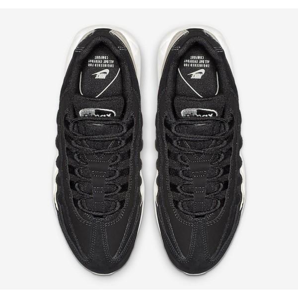 807443-017 Nike Air Max 95 Black White Running Shoes