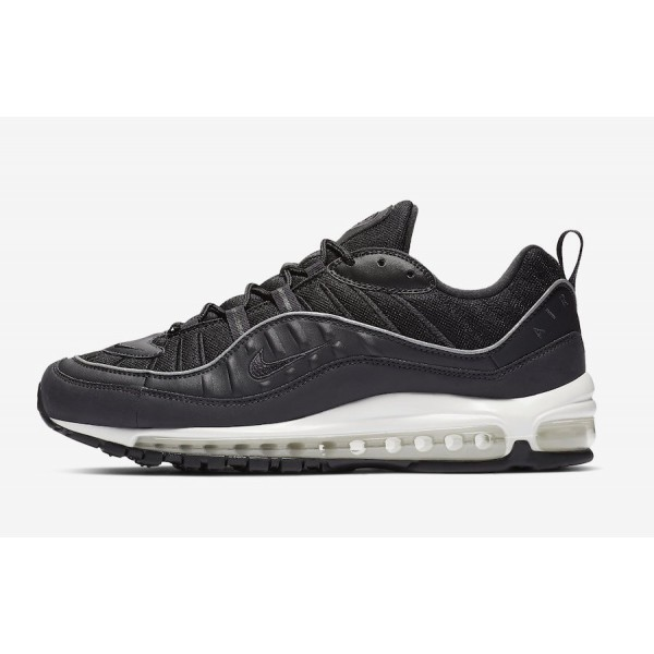 640744-009 Nike Air Max 98 Oil Grey Black Shoes